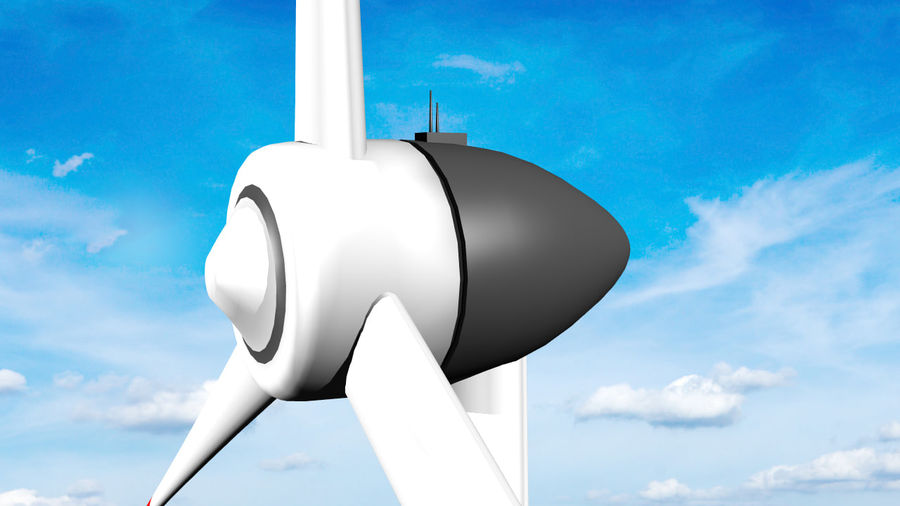 Clean energy - Eolic turbine royalty-free 3d model - Preview no. 3