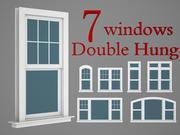 Collezione in legno per finestre a doppia sospensione 3d model