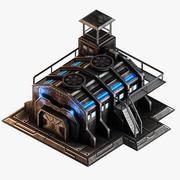 科幻军营 3d model
