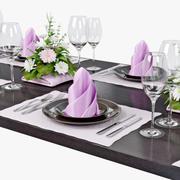 Table setting 02 3d model