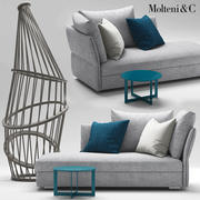 molteni SOFAS HOLIDAY 3d model