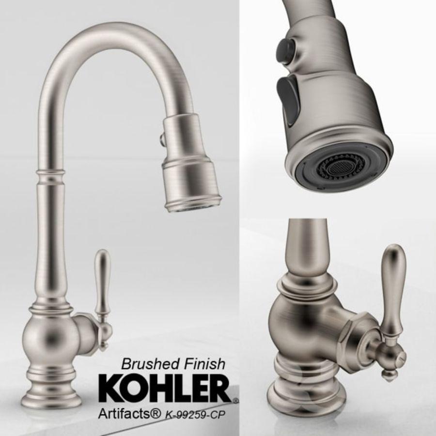 KOHLER Artifacts Bar Faucet- Escovado royalty-free 3d model - Preview no. 1