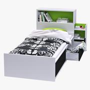 IKEA FLAXA (cama + cabeceira) 3d model