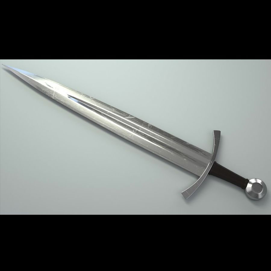 Battle medieval weaponset royalty-free 3d model - Preview no. 4