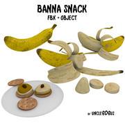 Banana Snack FBX OBJ 3d model