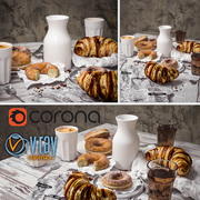 Ensemble petit-déjeuner 3d model