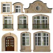 Fenster und Türen im Stil moderner Klassiker 3d model
