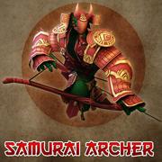 Arqueiro Samurai 3d model