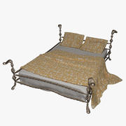 Wrought Iron Bed_1 3d model