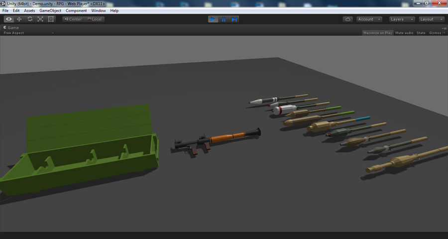 Low Poly RPG-7 royalty-free 3d model - Preview no. 24