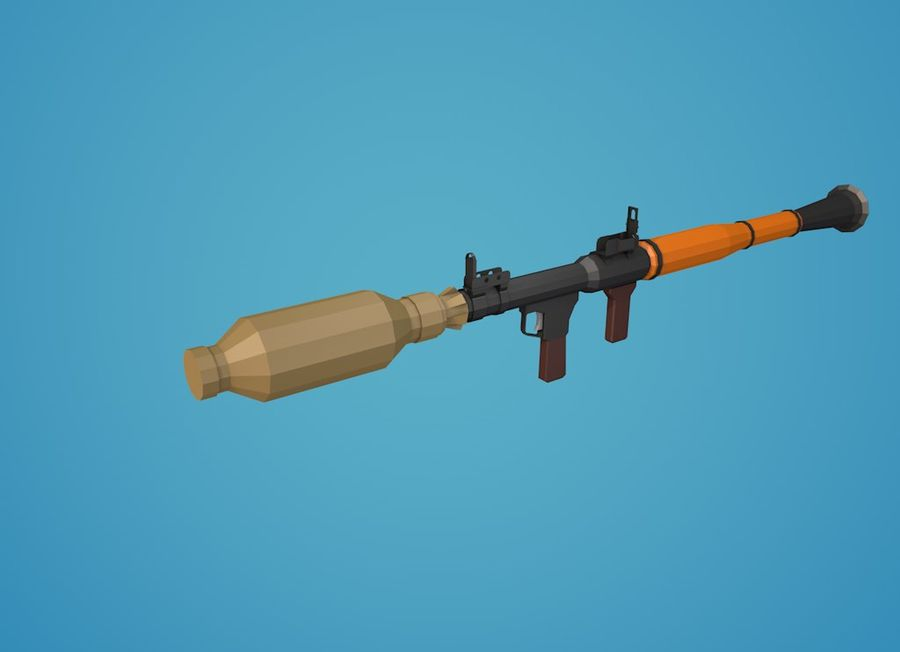 Low Poly RPG-7 royalty-free 3d model - Preview no. 19