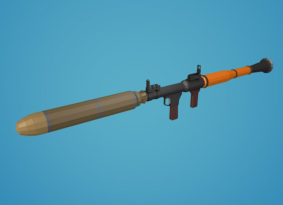 Low Poly RPG-7 royalty-free 3d model - Preview no. 18
