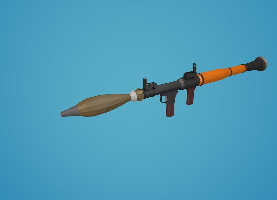 Low Poly RPG-7 royalty-free 3d model - Preview no. 21