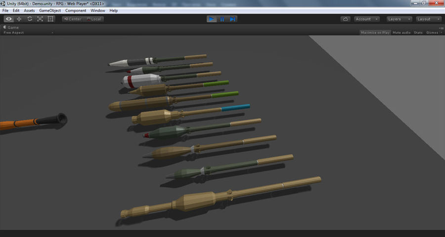 Low Poly RPG-7 royalty-free 3d model - Preview no. 26