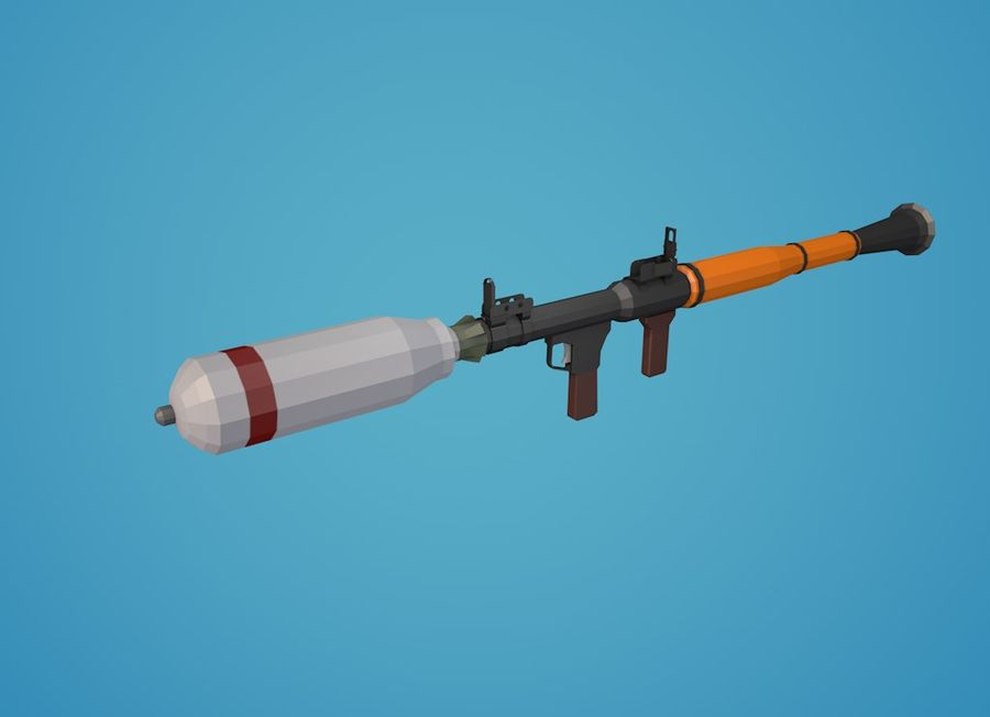 Low Poly RPG-7 royalty-free 3d model - Preview no. 16
