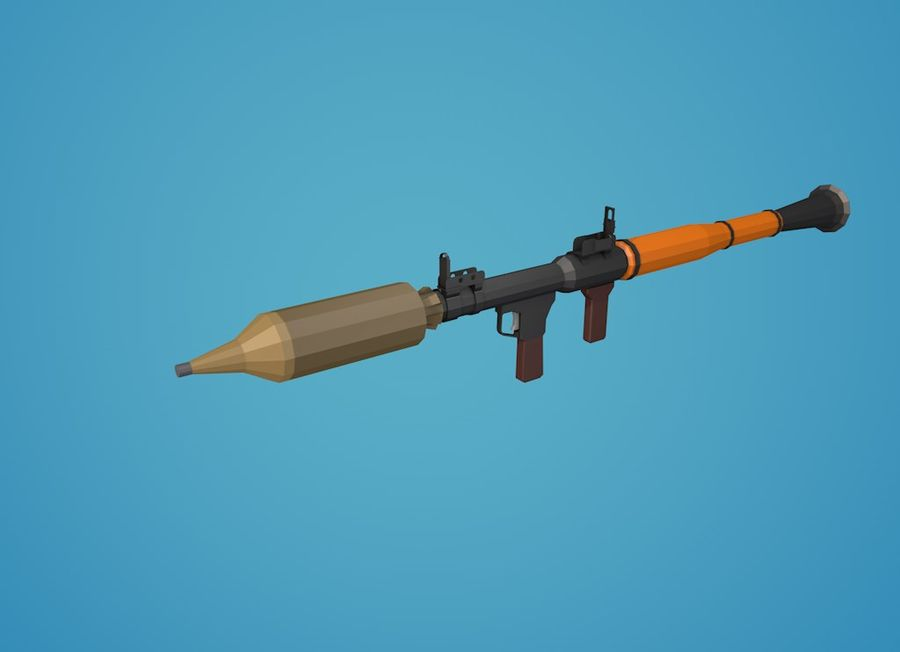 Low Poly RPG-7 royalty-free 3d model - Preview no. 17