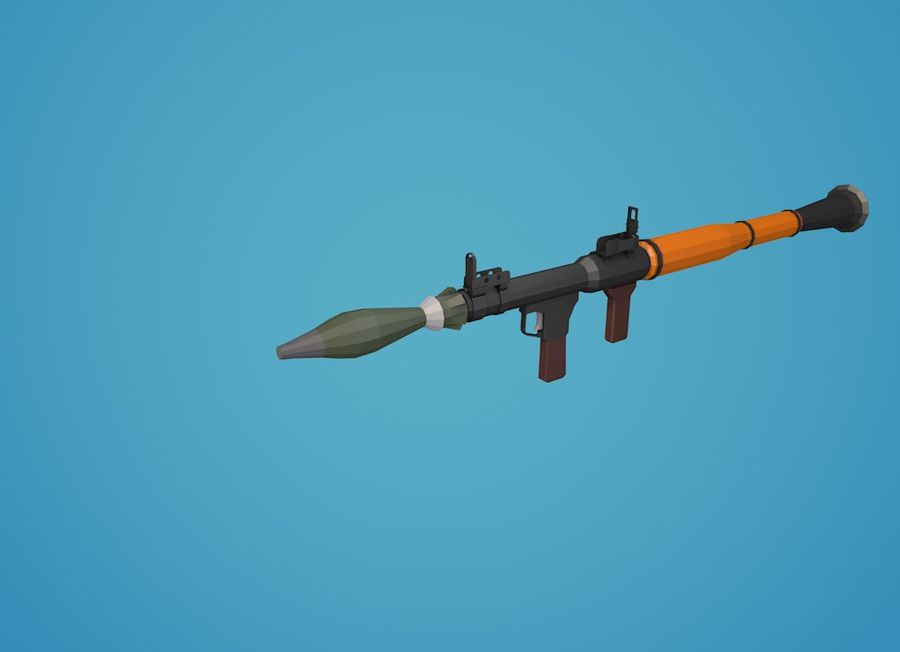 Low Poly RPG-7 royalty-free 3d model - Preview no. 22