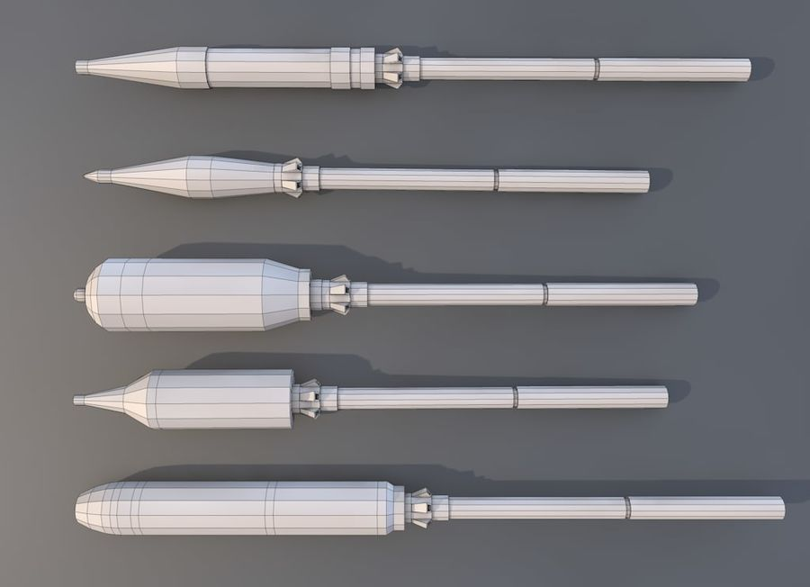 Low Poly RPG-7 royalty-free 3d model - Preview no. 6