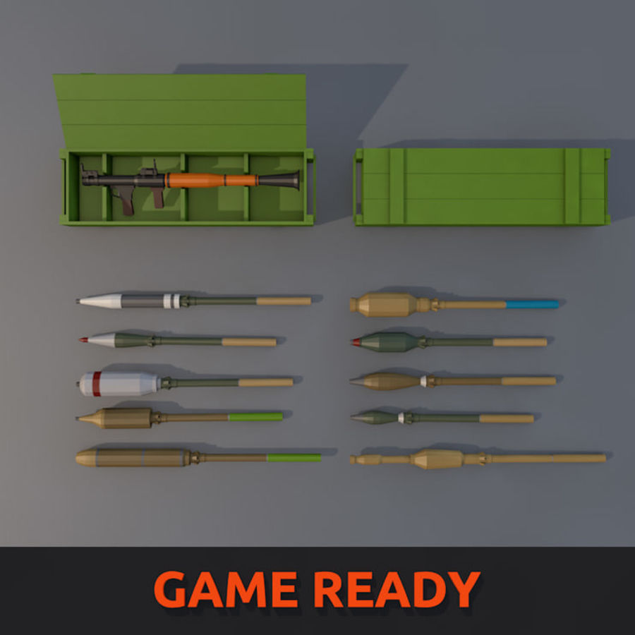 Low Poly RPG-7 royalty-free 3d model - Preview no. 1