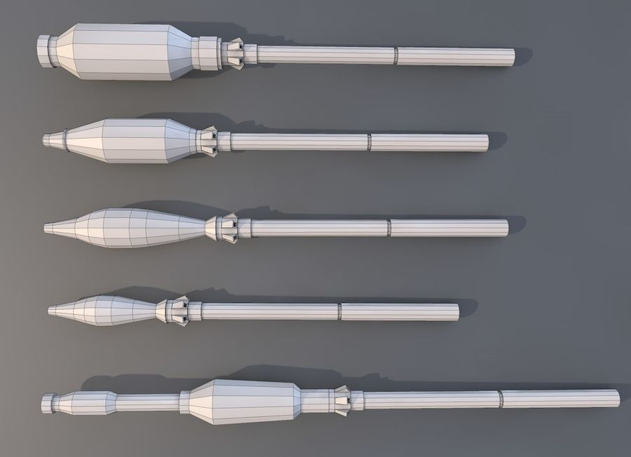 Low Poly RPG-7 royalty-free 3d model - Preview no. 8