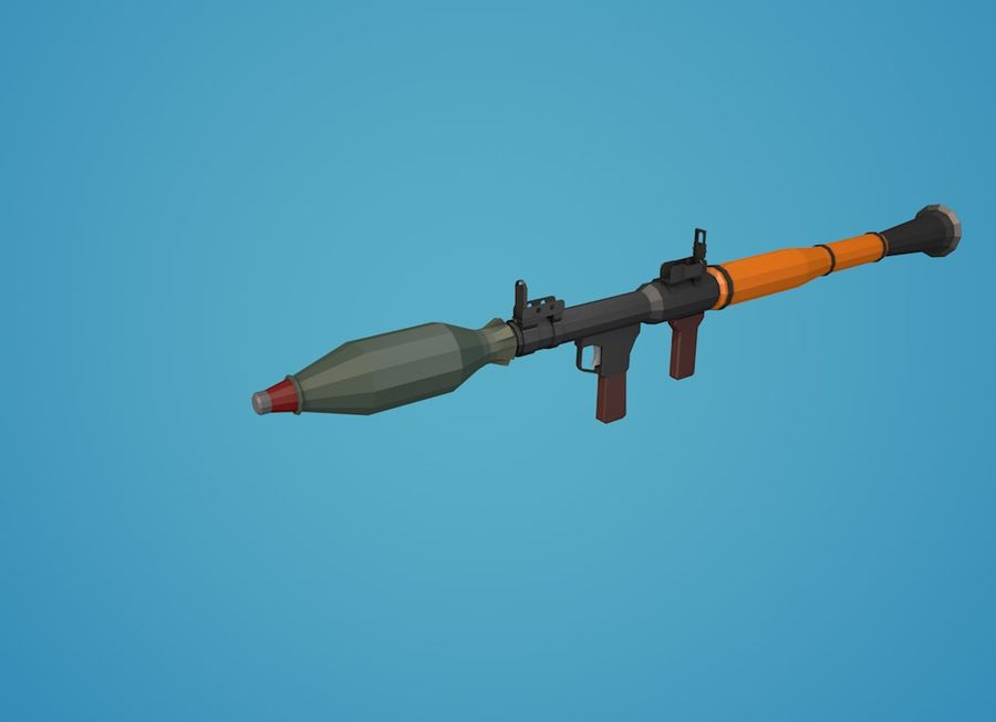 Low Poly RPG-7 royalty-free 3d model - Preview no. 20