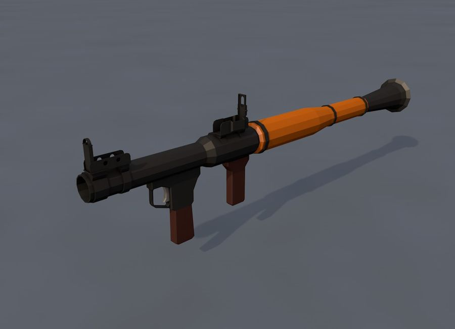 Low Poly RPG-7 royalty-free 3d model - Preview no. 12