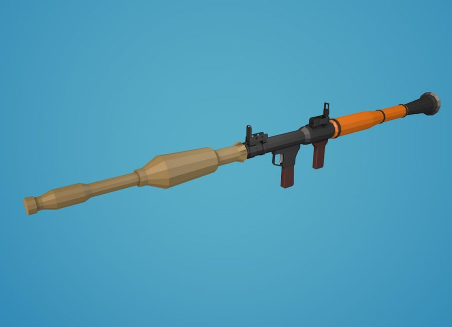Low Poly RPG-7 royalty-free 3d model - Preview no. 23