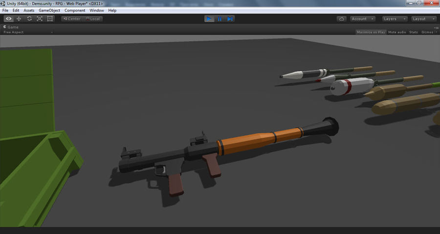 Low Poly RPG-7 royalty-free 3d model - Preview no. 25