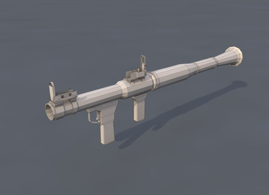 Low Poly RPG-7 royalty-free 3d model - Preview no. 13