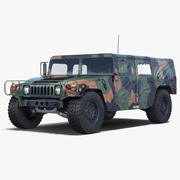 Troop Carrier HMMWV m1035 Camo 3d model