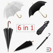 Umbrellas Collection 3 3d model