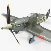 Hawker Hurricane resistido modelo 3d