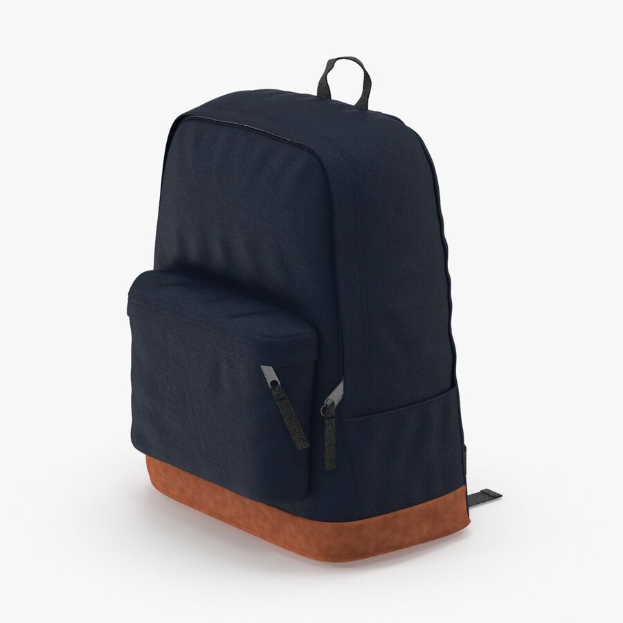 Backpack Dark Blue royalty-free 3d model - Preview no. 1