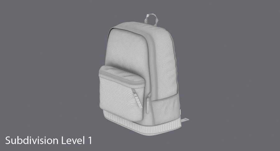 Backpack Dark Blue royalty-free 3d model - Preview no. 19