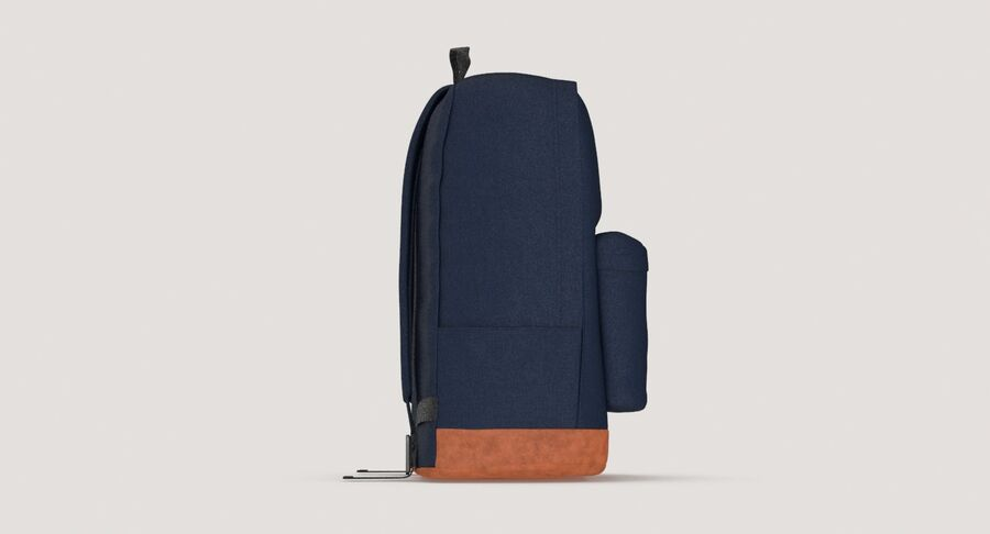 Backpack Dark Blue royalty-free 3d model - Preview no. 7