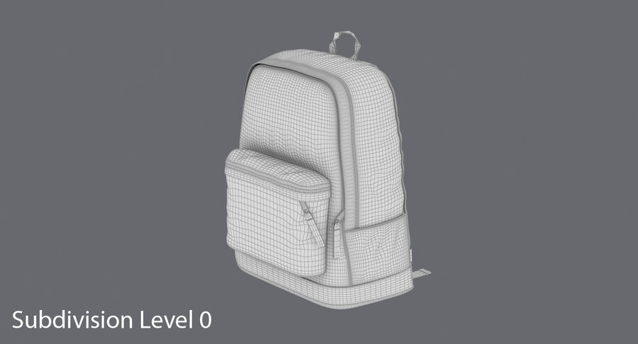 Backpack Dark Blue royalty-free 3d model - Preview no. 16