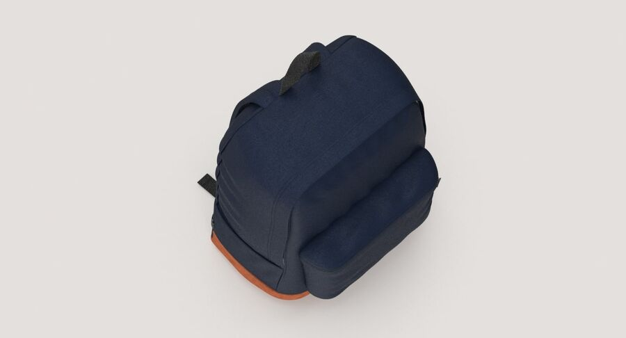 Backpack Dark Blue royalty-free 3d model - Preview no. 8