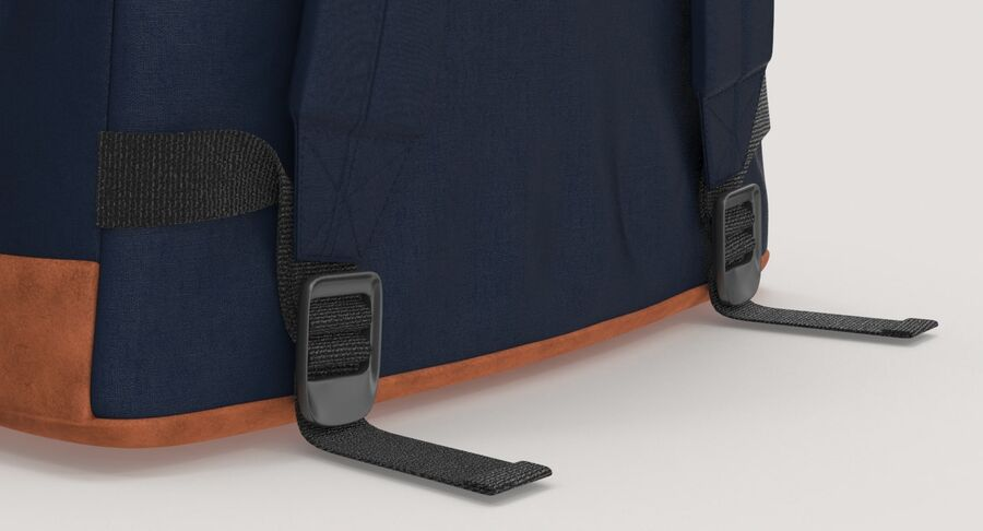 Backpack Dark Blue royalty-free 3d model - Preview no. 13