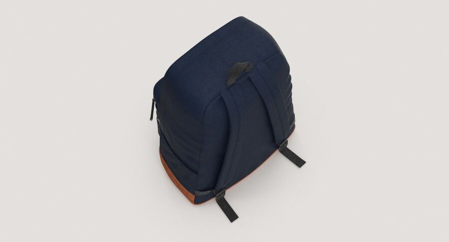 Backpack Dark Blue royalty-free 3d model - Preview no. 10