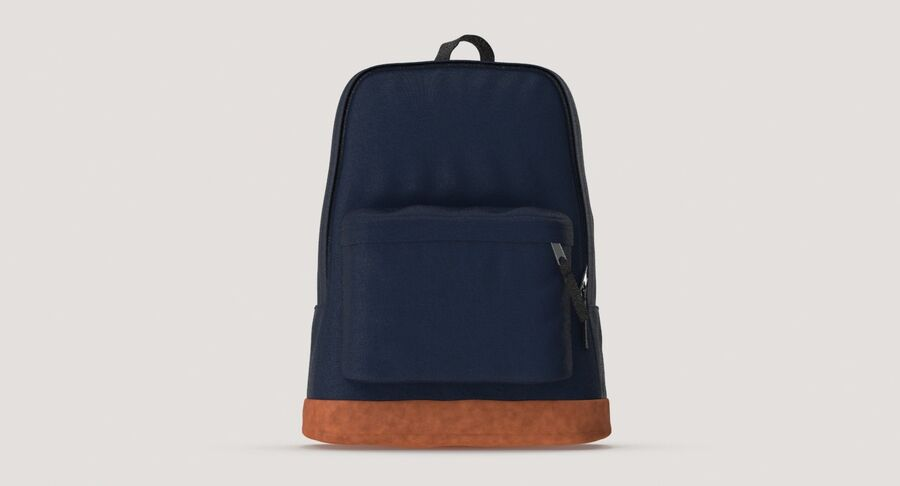Backpack Dark Blue royalty-free 3d model - Preview no. 9