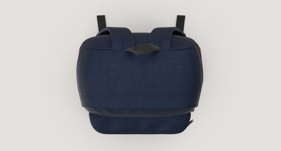 Backpack Dark Blue royalty-free 3d model - Preview no. 5