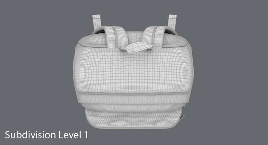 Backpack Dark Blue royalty-free 3d model - Preview no. 20