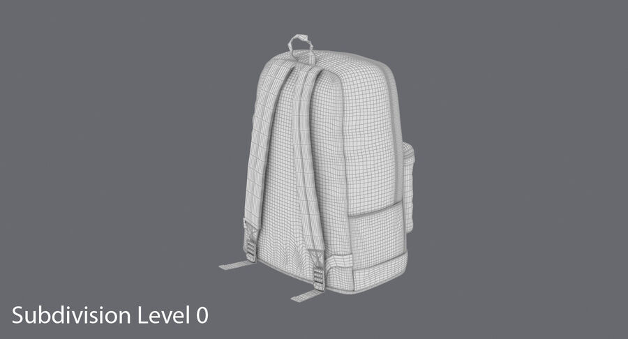 Backpack Dark Blue royalty-free 3d model - Preview no. 18