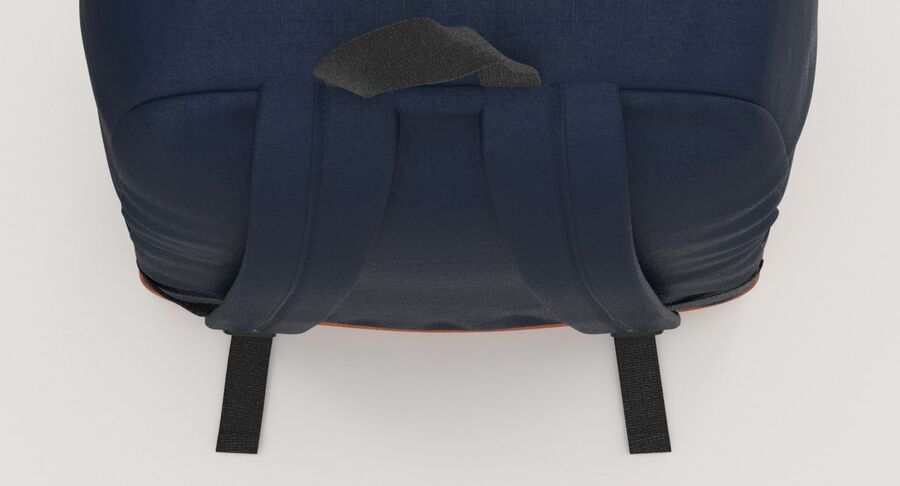 Backpack Dark Blue royalty-free 3d model - Preview no. 12