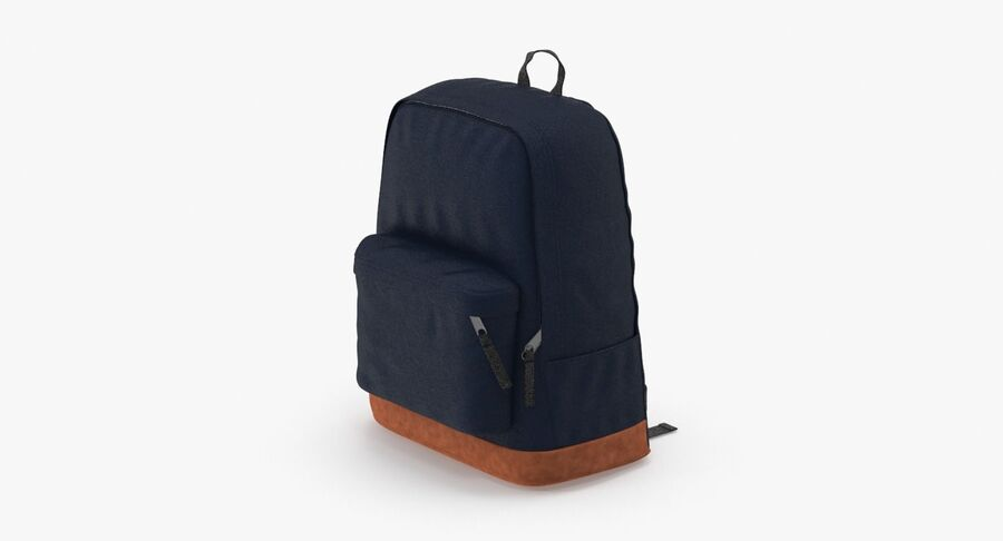 Backpack Dark Blue royalty-free 3d model - Preview no. 2