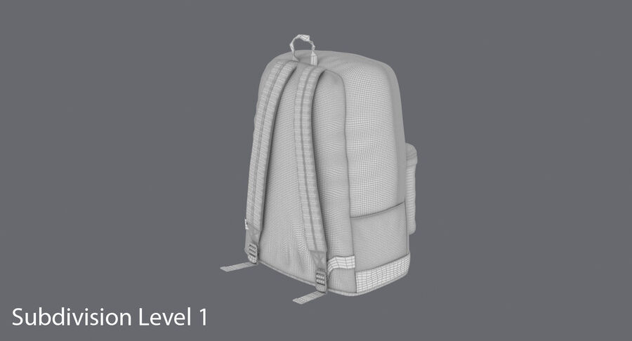 Backpack Dark Blue royalty-free 3d model - Preview no. 21