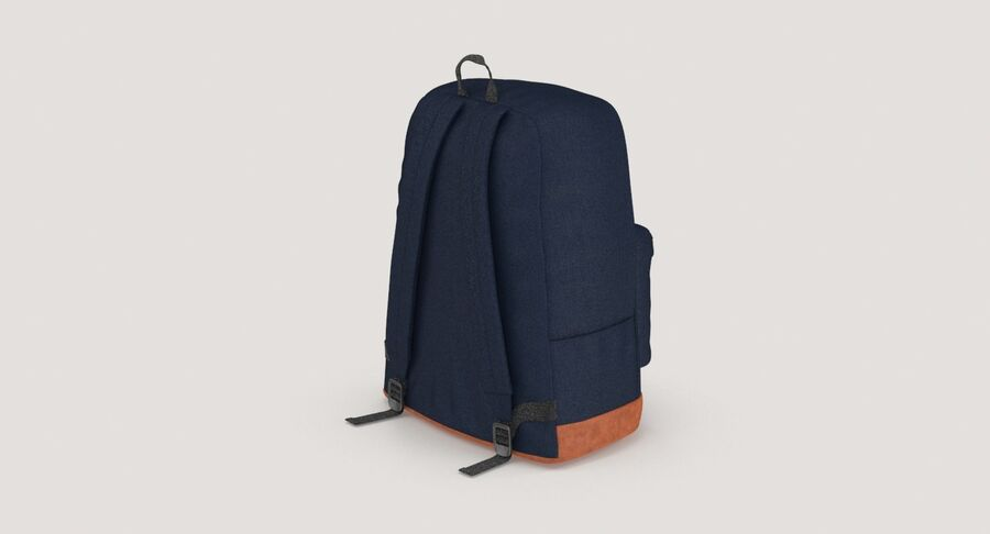 Backpack Dark Blue royalty-free 3d model - Preview no. 6