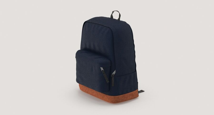 Backpack Dark Blue royalty-free 3d model - Preview no. 3