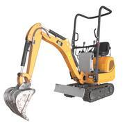 Mini escavadeira 3d model