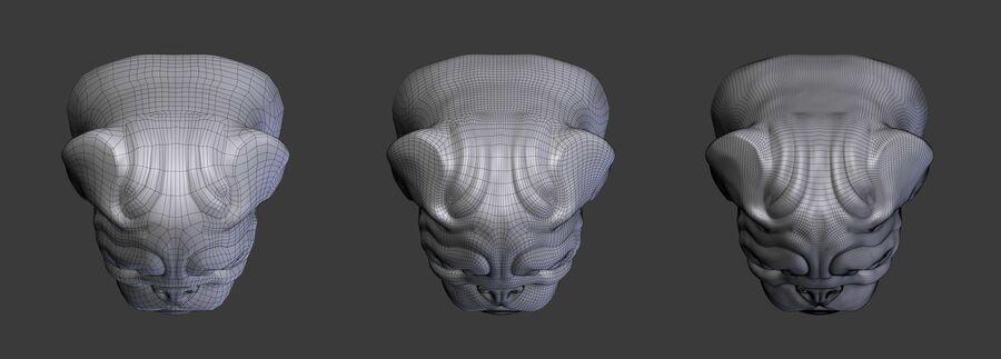 köpek kafası koleksiyonu royalty-free 3d model - Preview no. 26